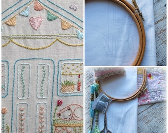 wonky shed sampler for stitching
