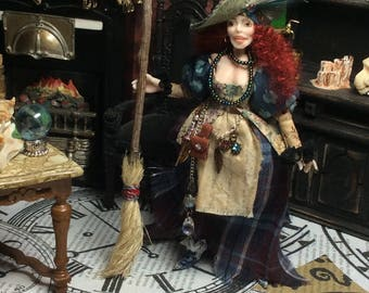 Halloween, Witch, Gypsy, Miniature Witch, Doll House Doll, Gypsy Witch, Kira Nightwing