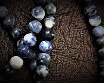 6mm Round Sodalite Beads - 16 inch strand
