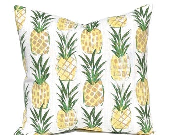 Pineapple Pillow Cover - Yellow Pillow Cover - Throw Pillow Cover - Decorative Pillow Cover - Hawaiian Decor- Sofa Pillow Cover - Cushion