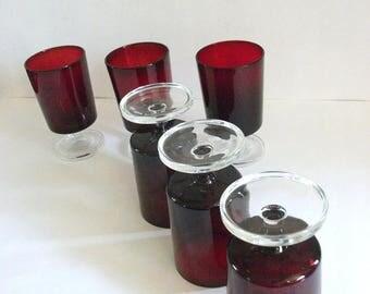 Vintage Red Glasses