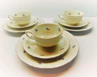 Vintage Tea Set, Teacups, Saucers and Side Plates