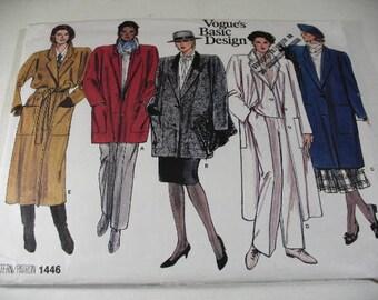 Vintage Vogue Coat Pattern 1446, Vogue's Basic Design