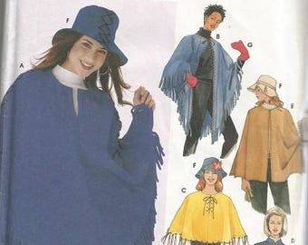 Simplicity 5349  Easy To Sew Poncho pattern SZ L-XL