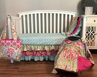 Kumari Gardens custom nursery set crib bedding