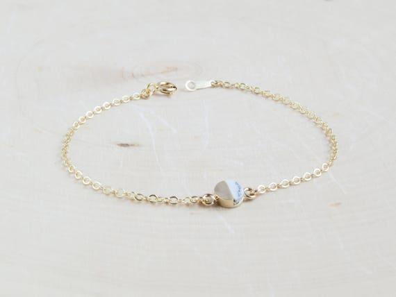 Delicate Bracelet | Labradorite Bracelet | Marble Bracelet | Minimalist Bracelet | Layering Bracelet | Gift For Her | Christmas Gift Ideas