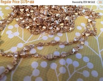 SALE Vintage Style asian lantern shape beaded chain matte gold