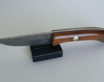 Laminate Steel Knife with Mahogany Handle, Item 517