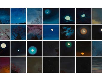 28 Paintings of the Night Sky - giclee print on paper or canvas