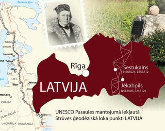 Struve Geodetic Arc in Latvia - UNESCO World Heritage point postcard
