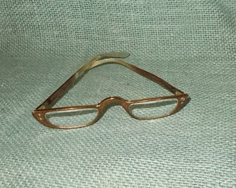 Vintage 1960's Liberty Reading Glasses or Cheaters-Metal Frame-Copper Brown Color