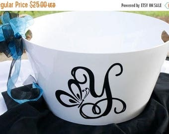 ON SALE White Acrylic Personalized Party Tub