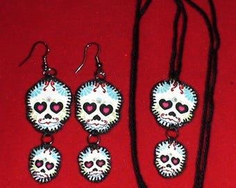 Halloween, Quilted Skull Set (HSS07)