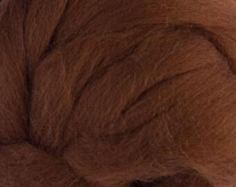 Superfine Merino Wool Top - 19 micron - Bark - 4 ounces