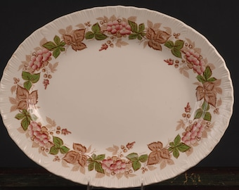 "Wedgwood, Wildbriar (Brown/Pink) 16"" Platter"