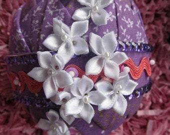 Folded Fabric Decorative Easter Eggs