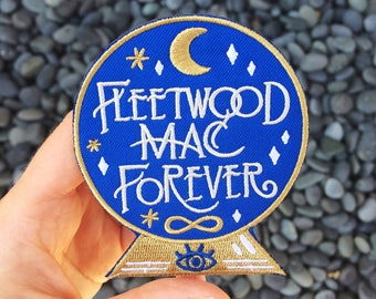 Fleetwood Mac Forever Embroidered Iron On Felt Patch
