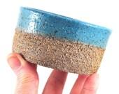 Handmade Ceramic Bowl - Textured Rustic Serving Bowl - Mezze Tapas Bowl - Turquoise Blue - Unique Pottery - Home Decor - Dawn Whitehand