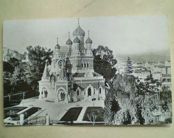 Nice - L'Eglise Russe - 1958 - Vintage French Postcard