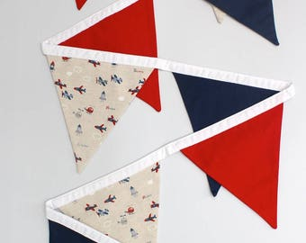 Fabric Bunting/Flags/Banner - Planes and Robots