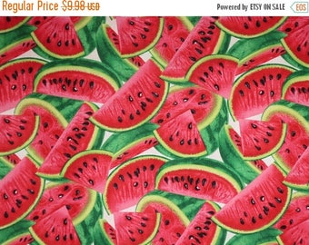 ON SALE Cool and Refreshing Watermelon Slices Print Pure Cotton Fabric--By the Yard