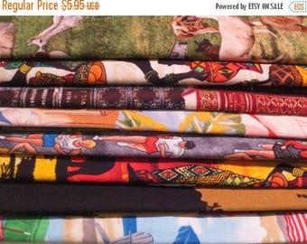 ON SALE 8 REMNANTS--Quilt Cotton Fabric Grab Bag #3