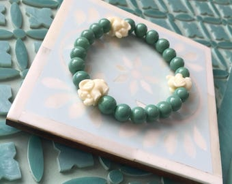 Elephant beaded bracelet
