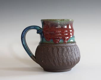 Unique Coffee Mug, 13 oz, handmade ceramic cup, handthrown mug, stoneware mug, pottery mug unique coffee mug ceramics and pottery