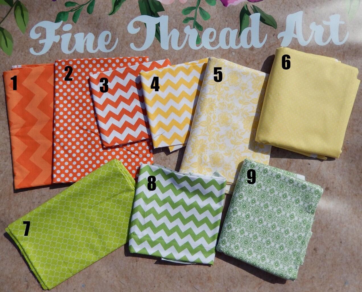 Citrus Color Applique Fabrics