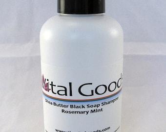 ON SALE Dreadlock Shampoo Rosemary Mint Shea Butter Black soap shampoo 4oz