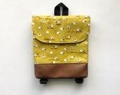 Mustard Sheep Tiny Pack - Small Backpack - Toddler Backpack - Tiny Backpack - Toddler Bag - Backpack