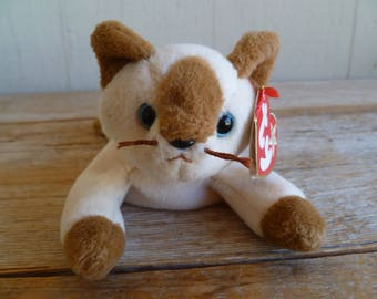 """Ty  """"Snip"""" Plush Cat Kitten Beanie Baby 1996 with Tag"""