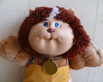 Cabbage Patch Koosas Cat Vintage 1980's with Collar