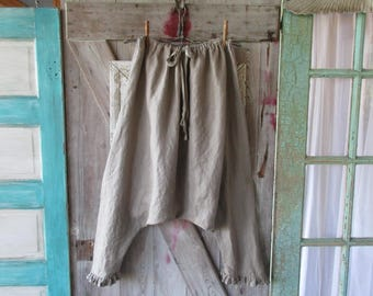 sareoul Thai fisherman linen  skirt/pant or is it a pant/skirt in mushroom taupe ready to ship