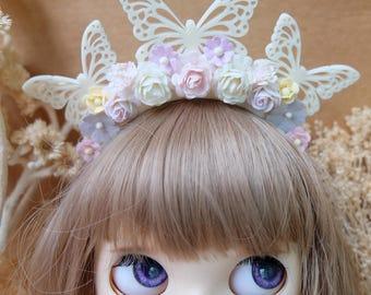 Blythe  Butterfly Flowers headband