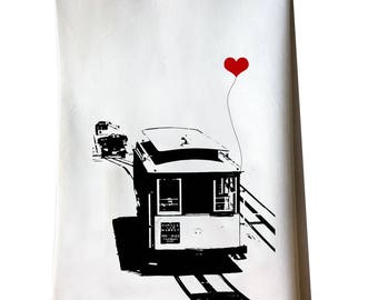 San Francisco Cable Car tea towel