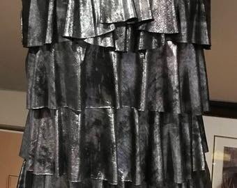Metallic Tiered Dress