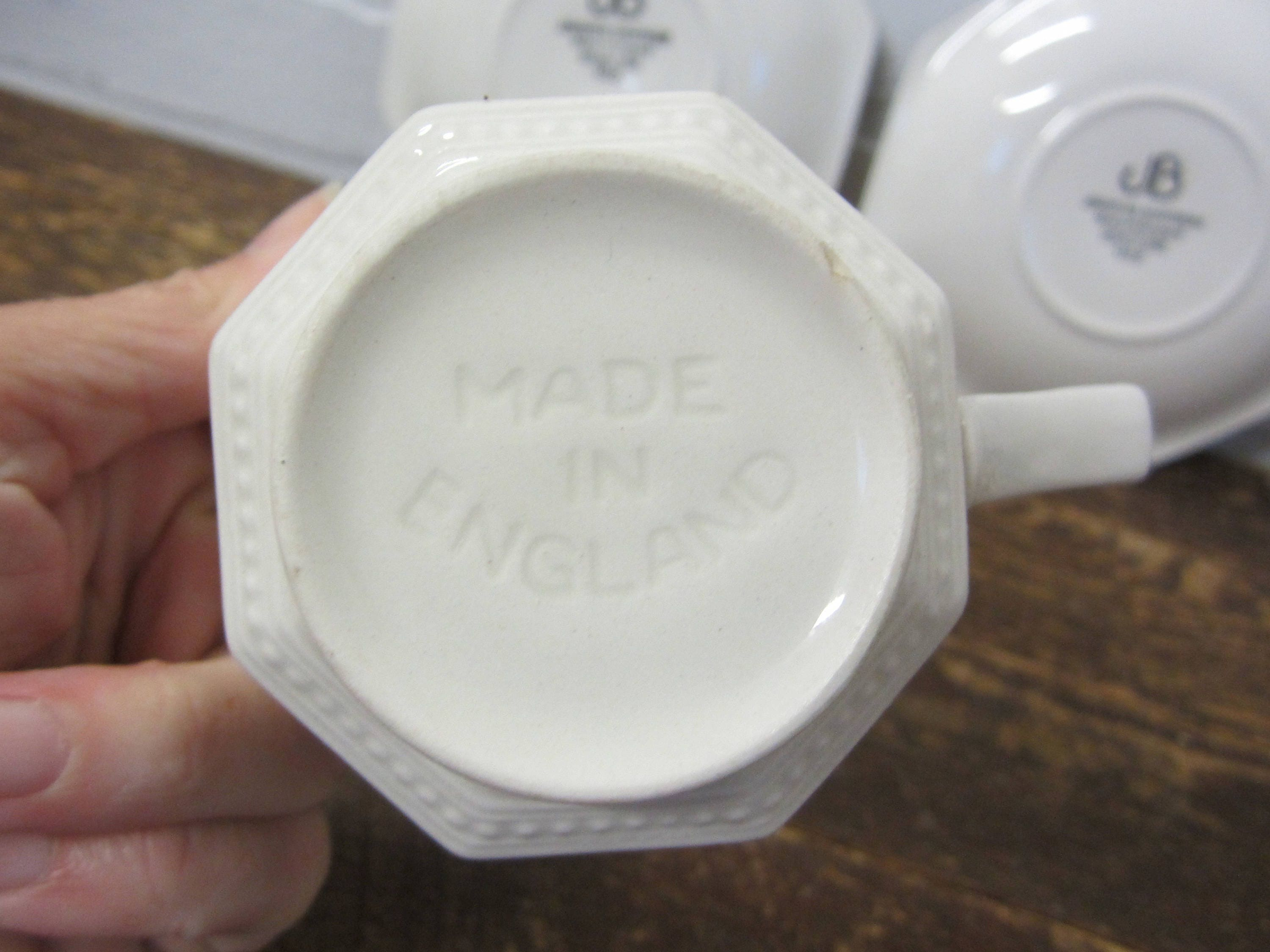 Set of Two Vintage Johnson Brothers Heritage Pattern White Ironstone ...