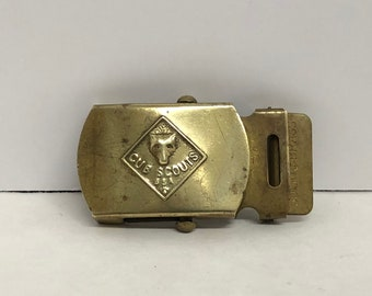 Official BSA Boy Scouts of America Cub Scout WOLF Buckle