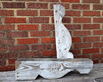 Early 1900s Antique Corbels Large Pair Chippy White Paint Architectural Salvage from 1910 Four Square Home