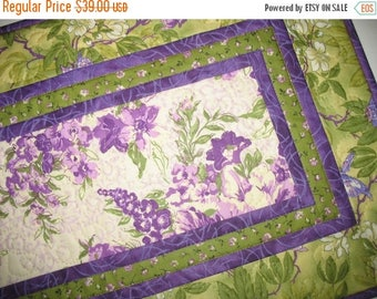 Sale Christmas in July Floral Table Runner, Floral, Summer, quilted table runner, handmade, fabric from Free Spirit