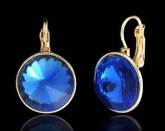 Swarovski Crystal earrings Royal blue pierced