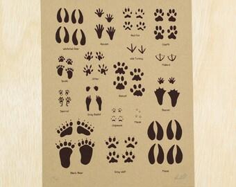 Animal Tracks Screen Print Poster