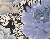 Brocade Peony in Grey  PWPJ062 - Philip Jacobs - Kaffe Fassett Collective - Free Spirit Fabric - By the Yard