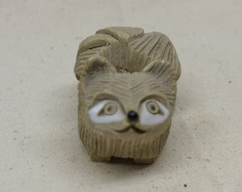 Vintage Art Pottery Dog - Artesania Rinconada pottery - Urugyan Pottery - Dog Figurine