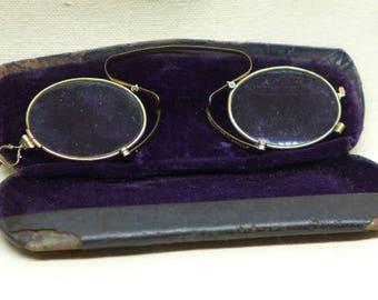 Antique Spectacles - Antique Pince Nez  Eye Glasses - Magnifying Glasses - Antique Reading Glasses