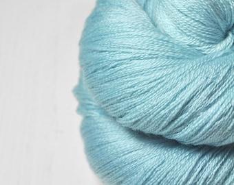 Melting blue ice OOAK - Merino/Silk/Cashmere Fine Lace Yarn
