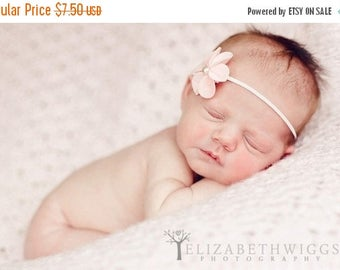 12% off felt flower headband, newborn headband, baby hair flower, adult clip, hair clip, photo prop, adult headband, pink baby headband