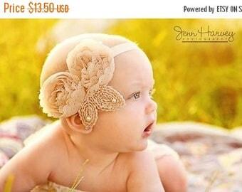 12% off Baby headband, newborn headband, adult headband, child headband and photography prop The triple sprinkled- Colleen headband