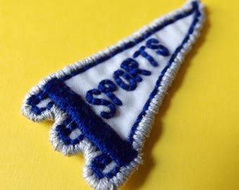 Sports pennant handmade embroidered mini patch